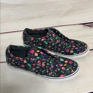 Vans • authentic floral shoes size 7.5